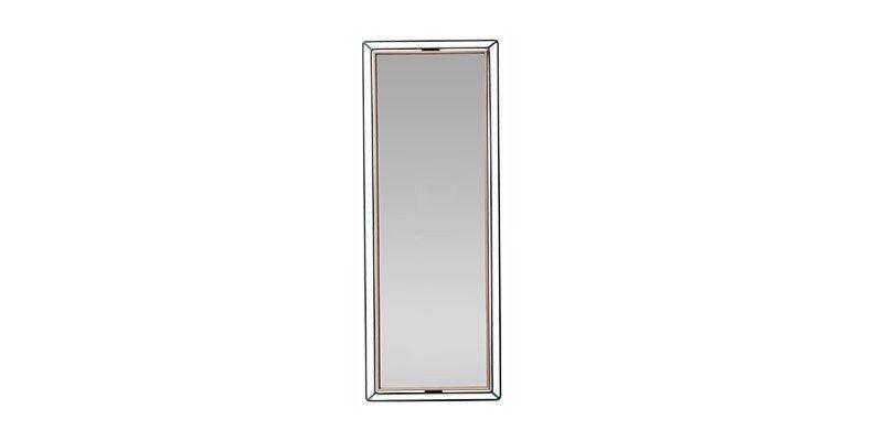 Oglinda decorativa cu rama din pal Louisa Large Nuc / Negru, L30,5xl80,6 cm imagine