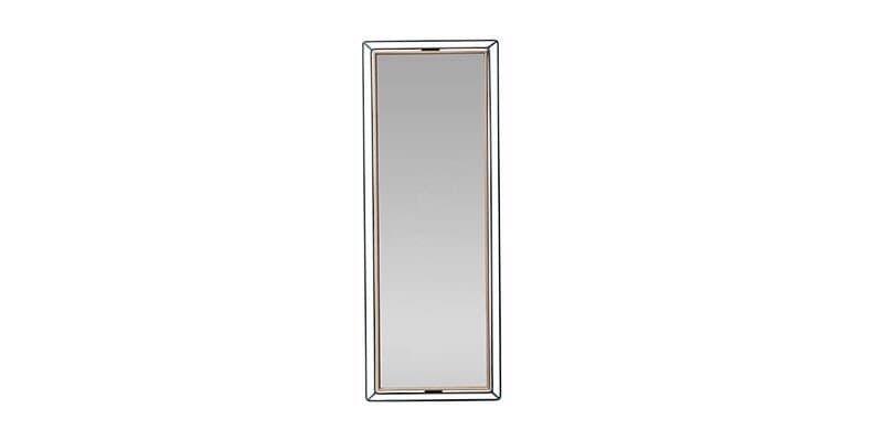 Oglinda decorativa cu rama din pal Louisa Small Nuc / Negru, L20,5xl80,6 cm imagine