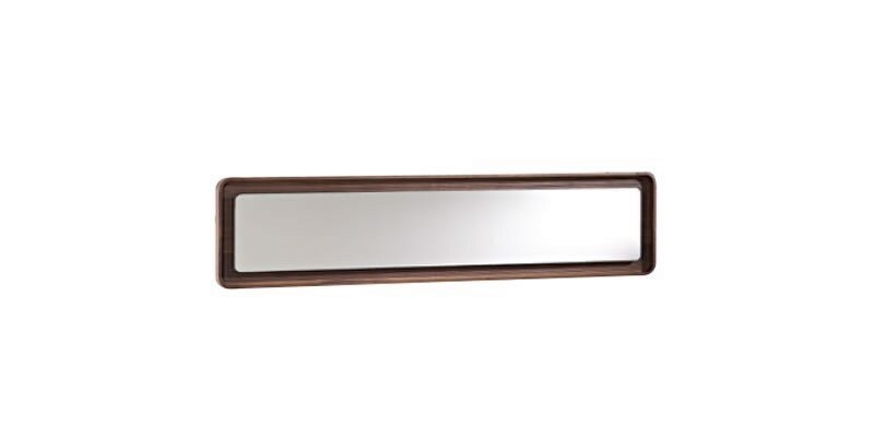 Oglinda decorativa cu rama din pal Noble Nuc, L194,8xl44,8 cm