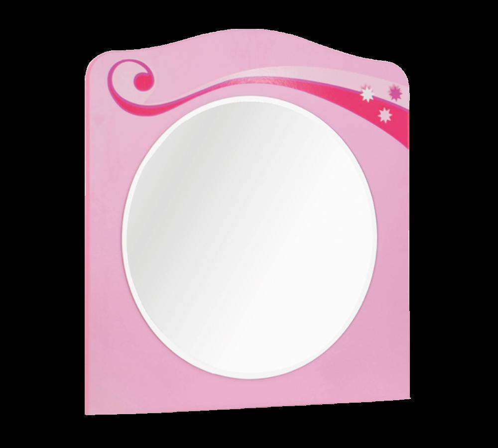 Oglinda decorativa cu rama din pal pentru copii Little Princess Pink l64xA2xH68 cm