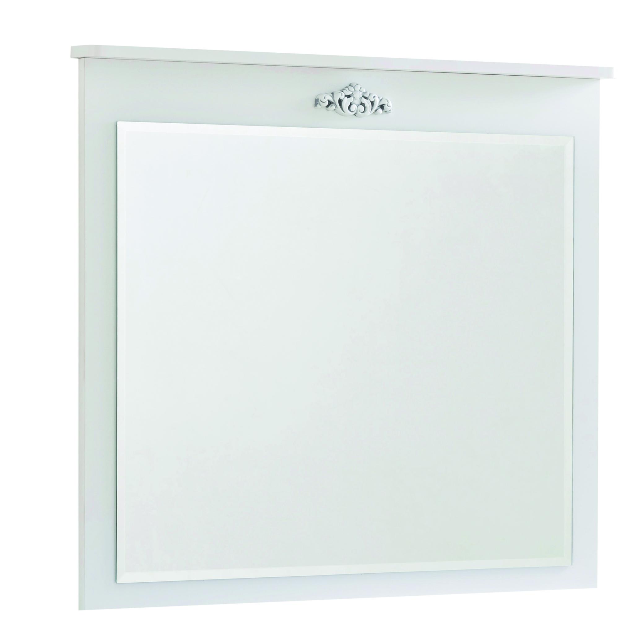 Oglinda decorativa cu rama din pal pentru copii si tineret Romantica White l90xA6xH80 cm