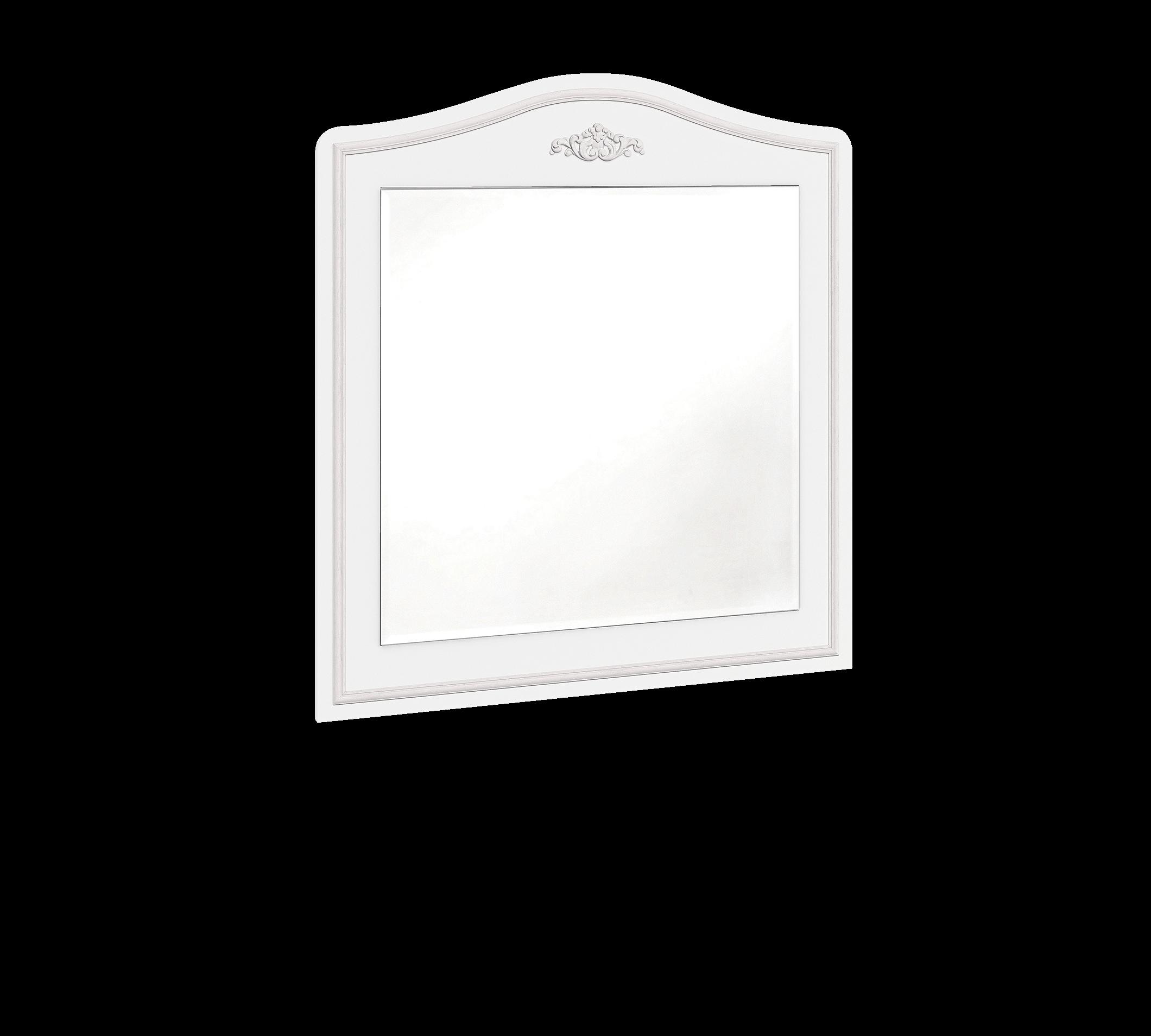 Oglinda decorativa cu rama din pal Selena Grey Alb / Gri, L73xl90 cm imagine