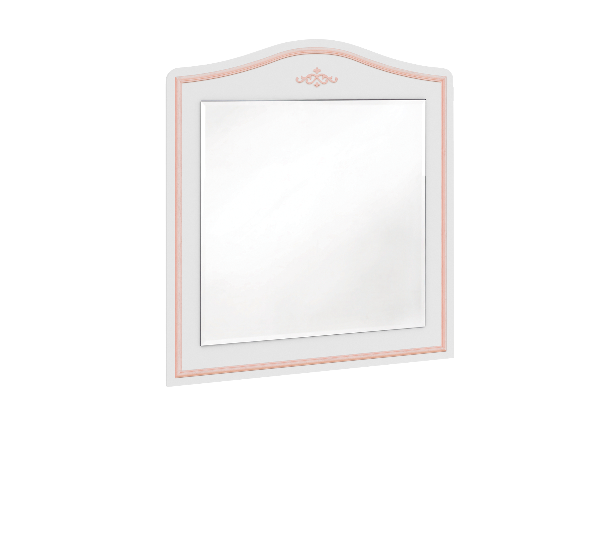 Oglinda decorativa cu rama din pal Selena Pink Alb / Roz, l73xH90 cm somproduct.ro