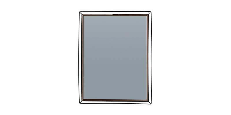 Oglinda Decorativa Cu Rama Din Pal Si Metal Louisa Nuc / Negru, L55,5xh70,4 Cm