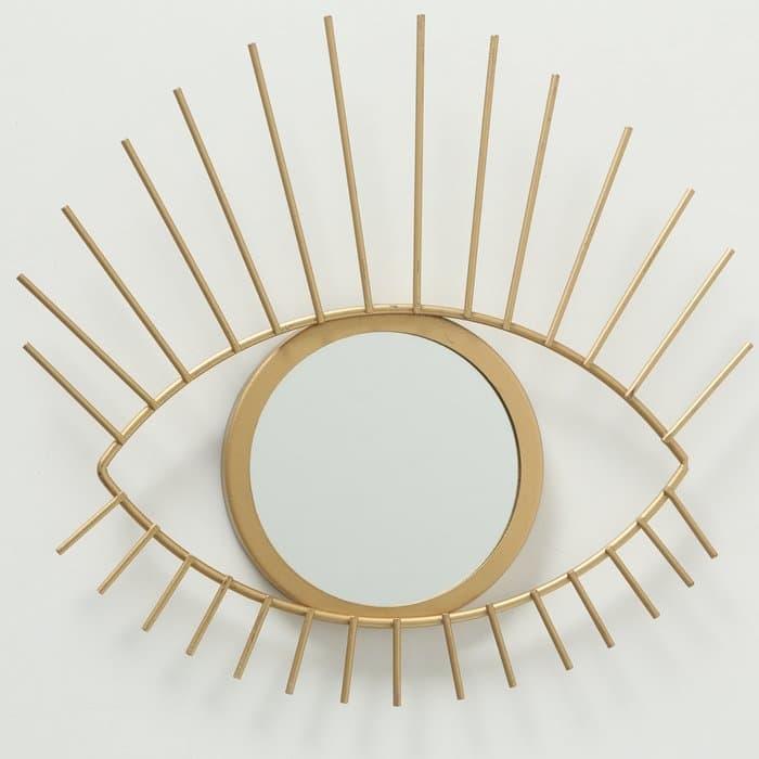 Oglinda decorativa cu rama metalica Auge Auriu, L31xl27 cm