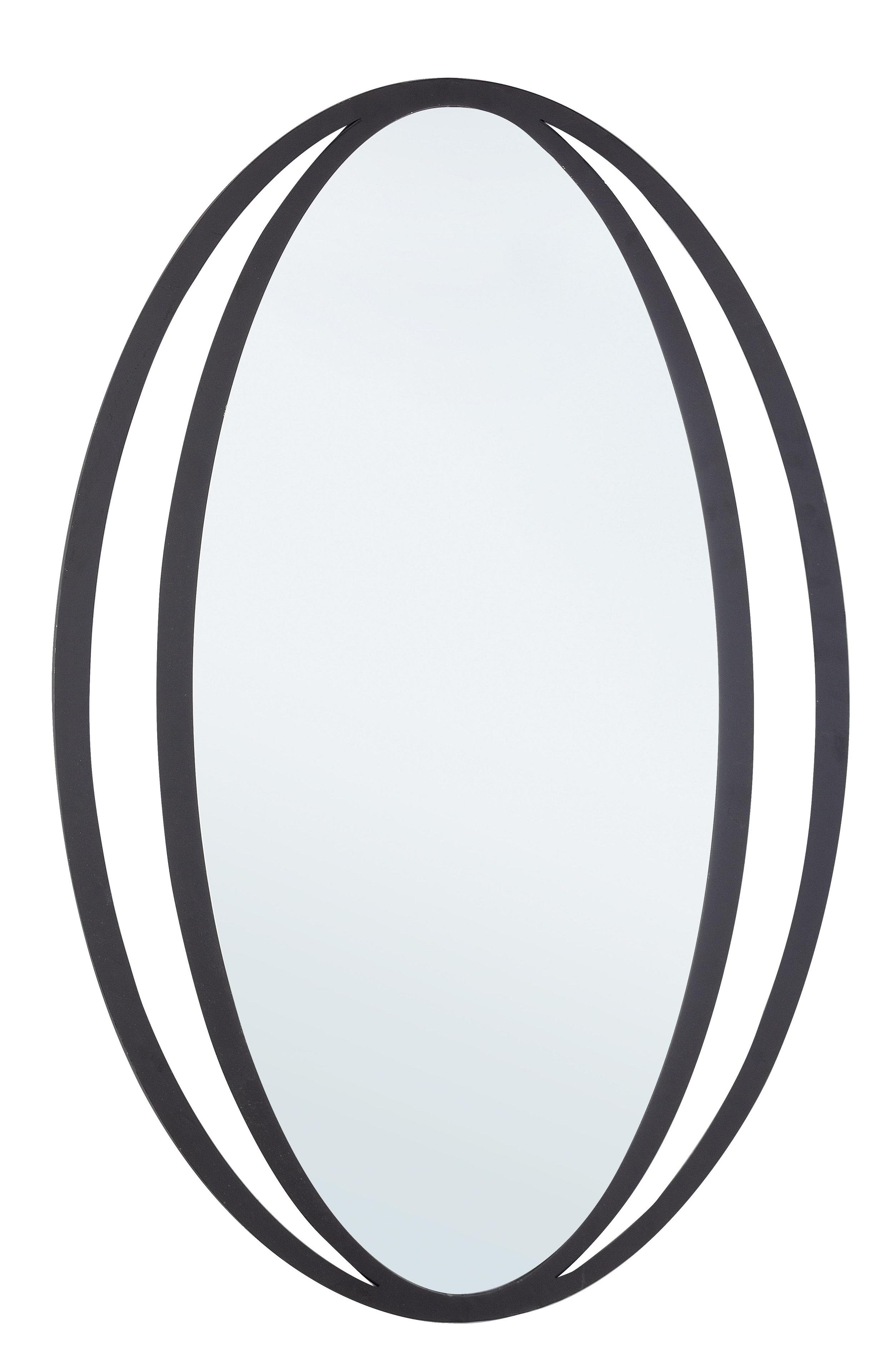 Oglinda decorativa cu rama metalica Nabila Negru, L51xl80 cm