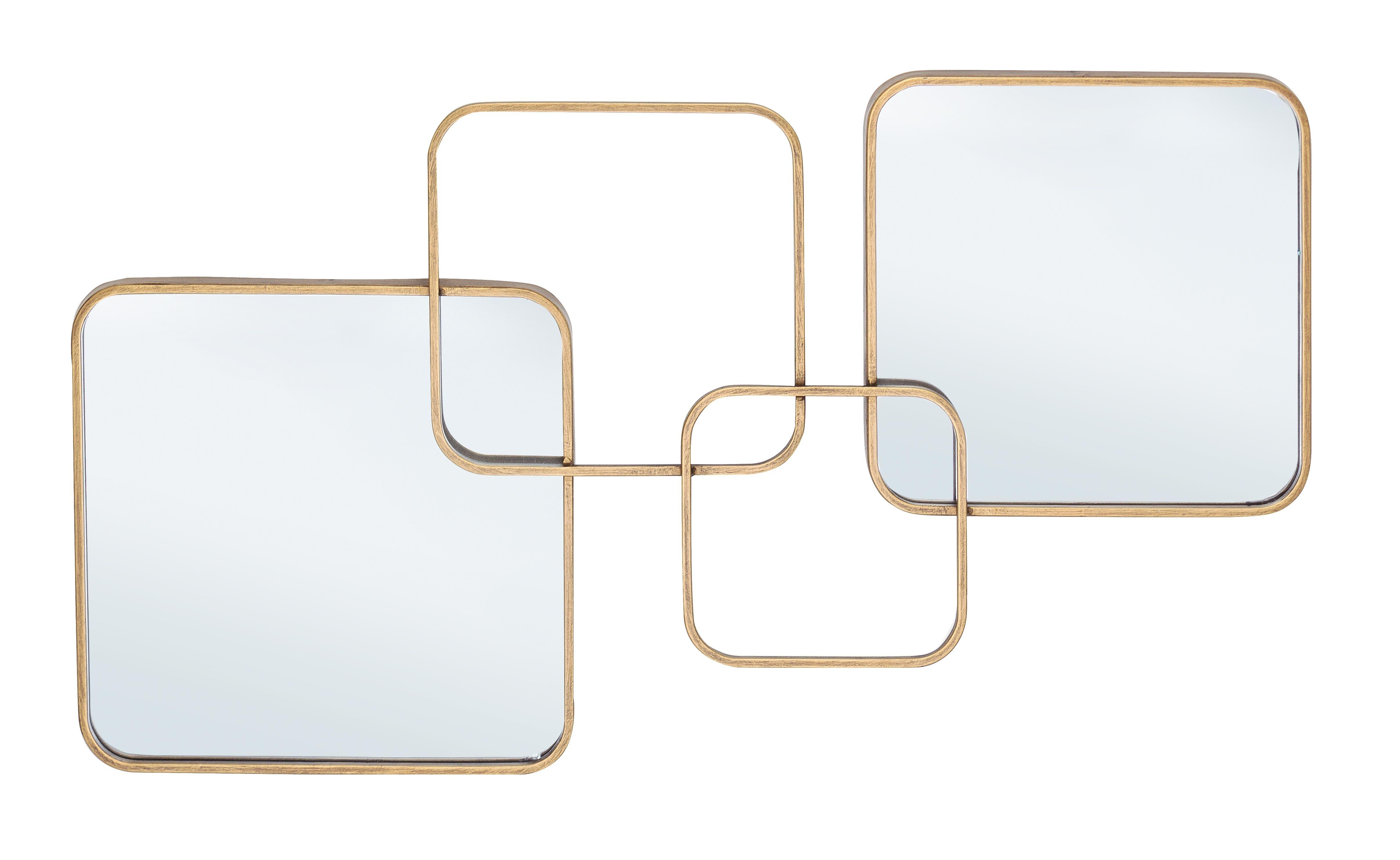 Oglinda decorativa cu rama metalica Oralie Auriu, L70xl40 cm imagine