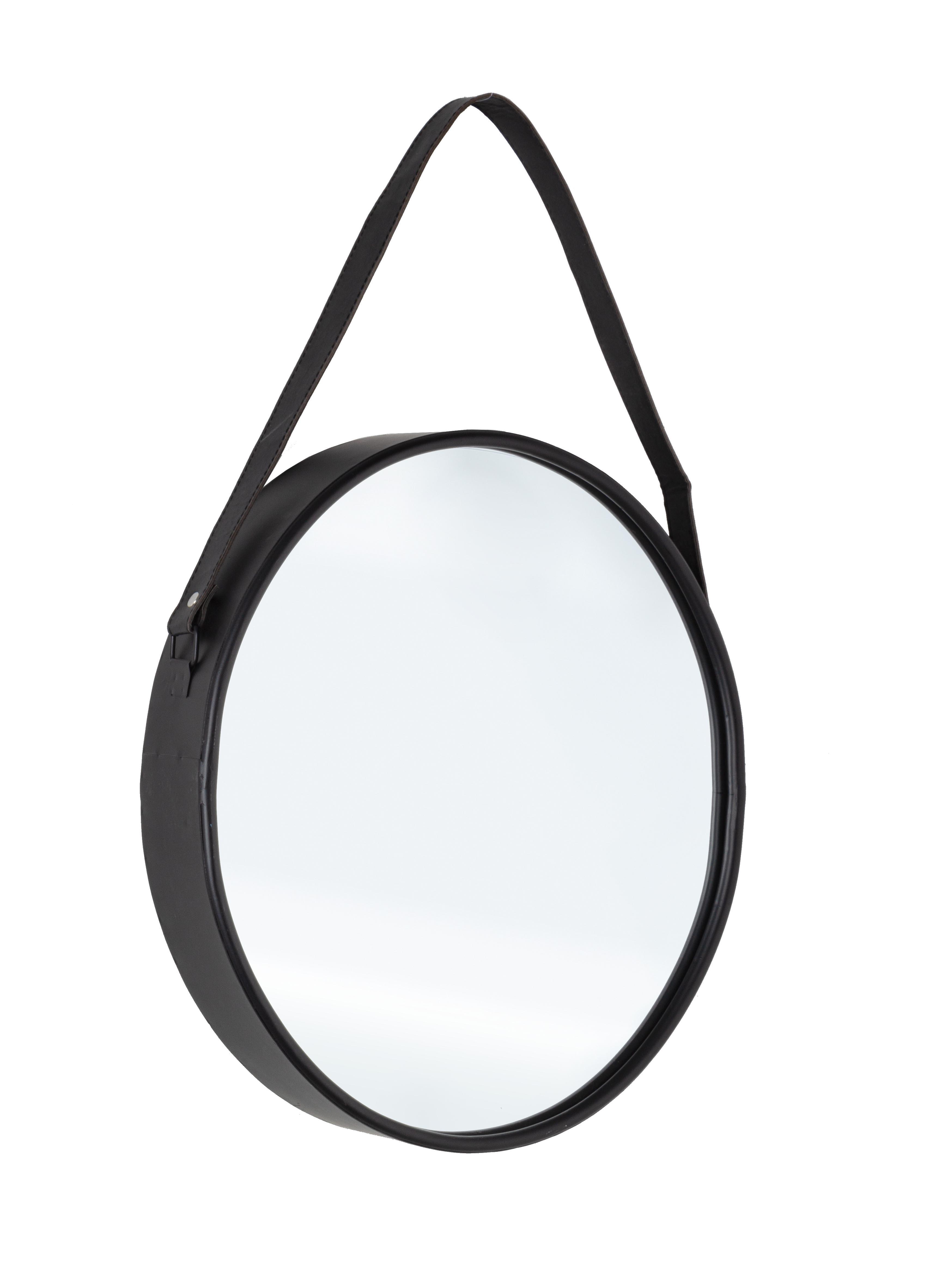 Oglinda decorativa cu rama metalica Rind Oval Negru, L41xl51 cm imagine