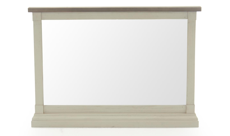 Oglinda Decorativa Lemn Pin Antic Alb Poza