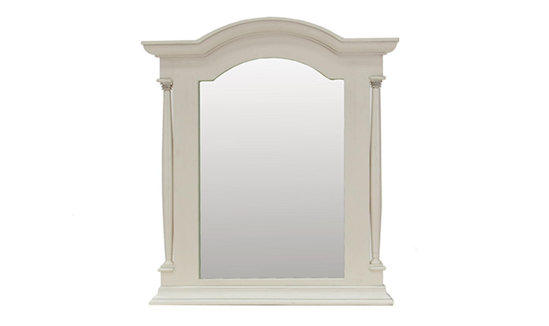 Oglinda decorativa din lemn de pin si MDF Ailesbury Ivory l85xA9xH95 cm