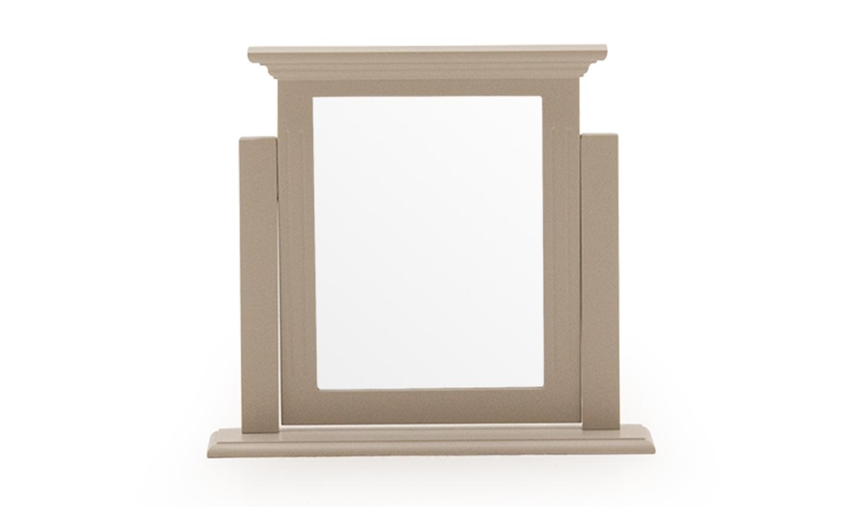 Oglinda decorativa din lemn de pin si MDF Deauville Taupe l59xA12xH54 cm