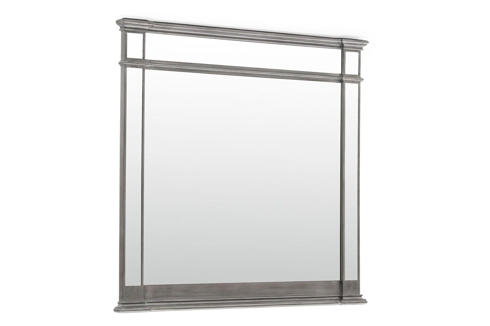 Oglinda decorativa din lemn de pin si MDF Ophelia Silver l1194xA59xH1143 cm