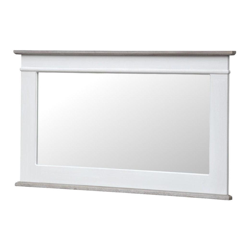 Oglinda decorativa din lemn de plop si MDF Rimini White RI054W