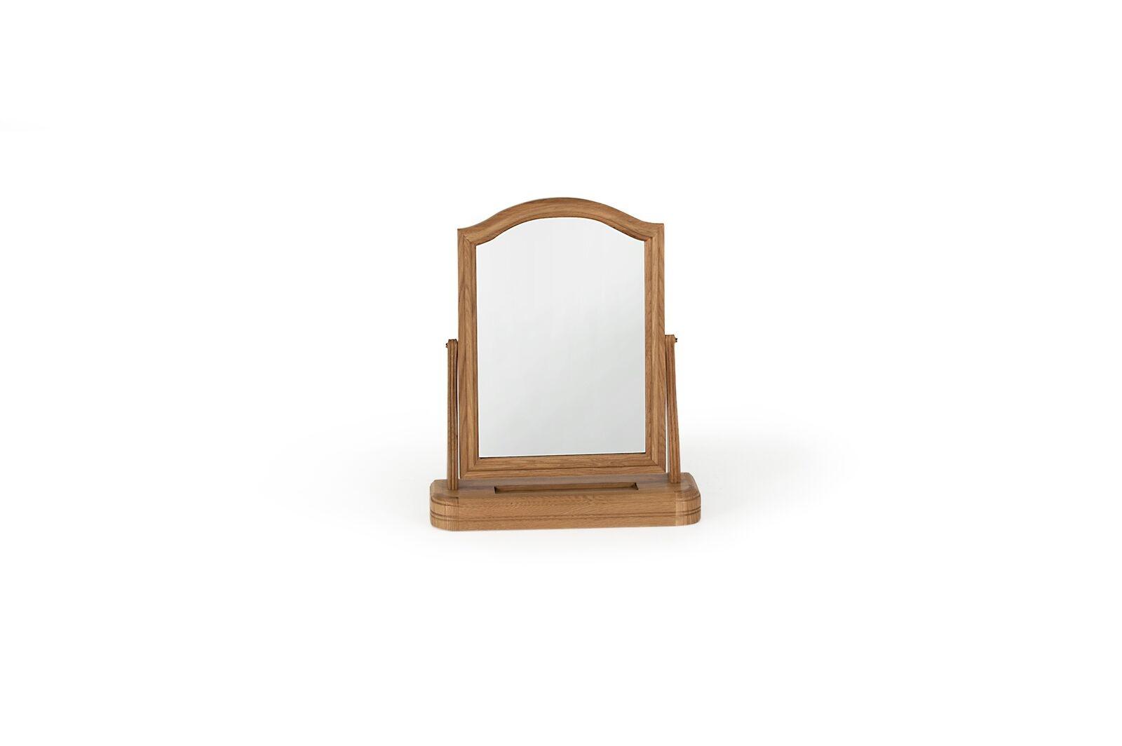 Oglinda decorativa din lemn de stejar si furnir Carmen Vanity Oak l478xA145xH568 cm