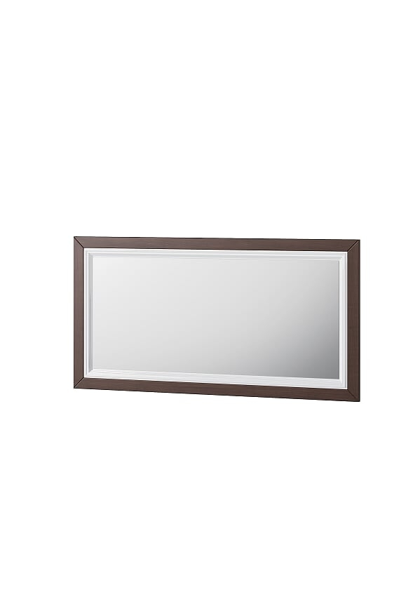 Oglinda decorativa din MDF si furnir Massimo 80 White / Mocha l137xA4xH69 cm