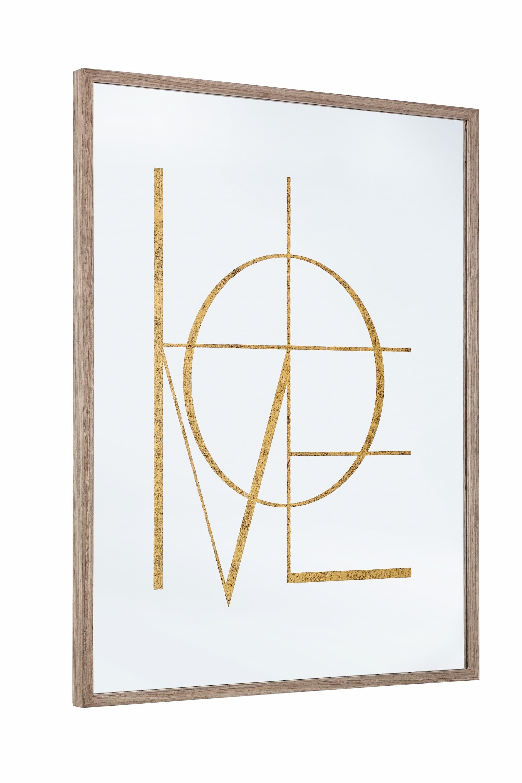 Oglinda decorativa din MDF si sticla Glace W36 Natural, L60xl80 cm
