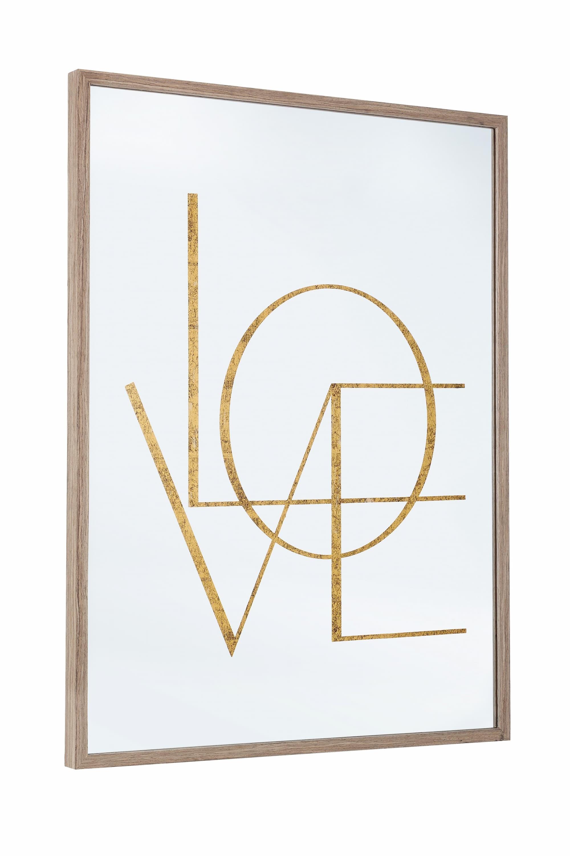 Oglinda decorativa din MDF si sticla Glace W37 Natural, L60xl80 cm