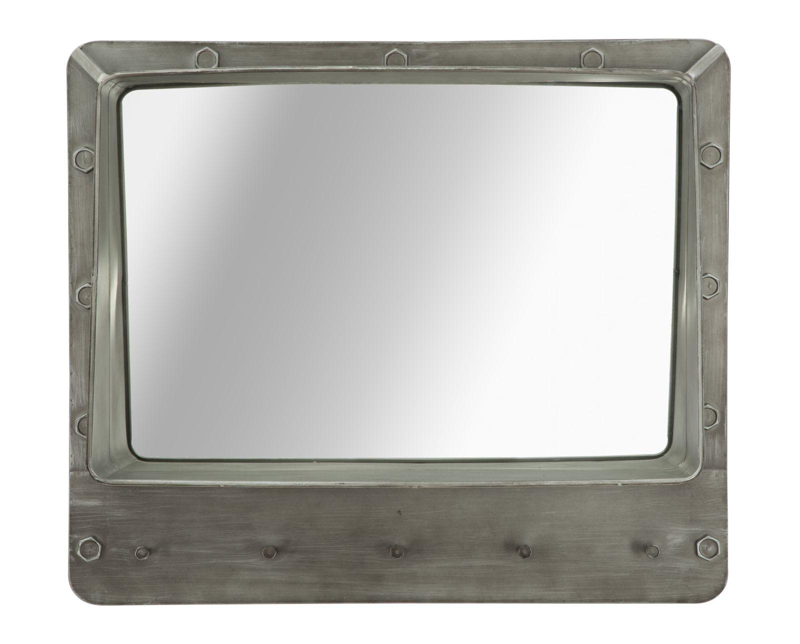 Oglinda decorativa din metal Bolt Dark Grey l70xA195xH60 cm