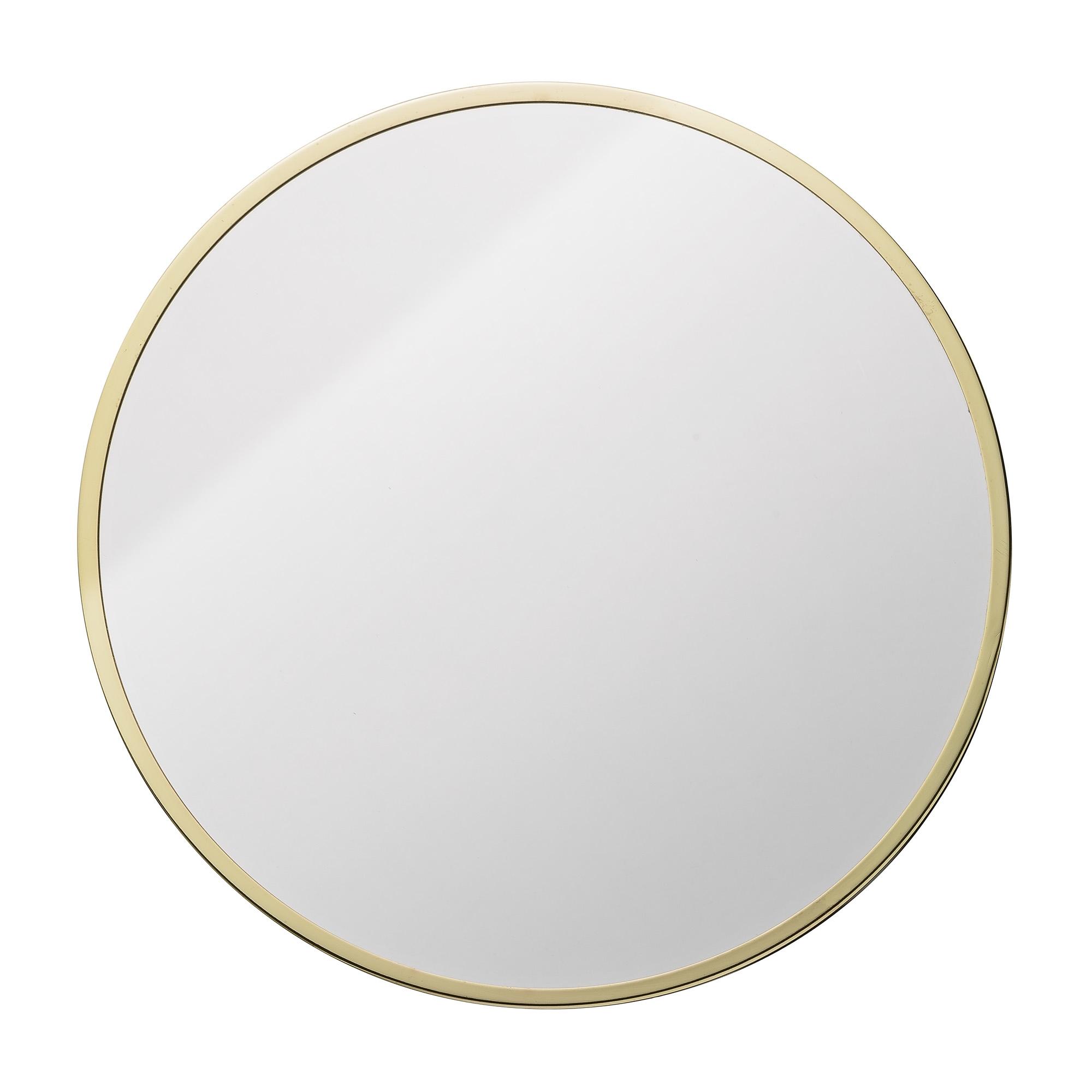 Oglinda decorativa din metal Goldy Auriu, Ø38 cm imagine
