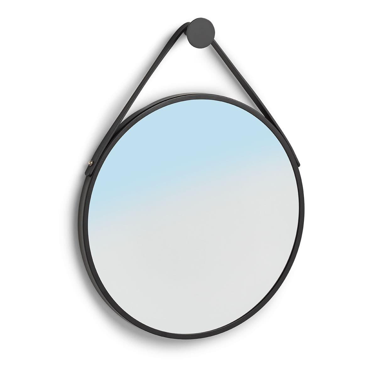 Oglinda decorativa din metal, Shine Round Negru, Ø40 cm
