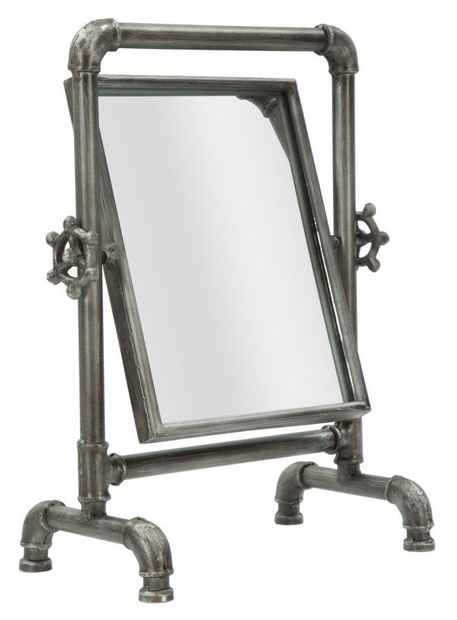 Oglinda decorativa din metal Tube Small Black l27xA165xH365 cm