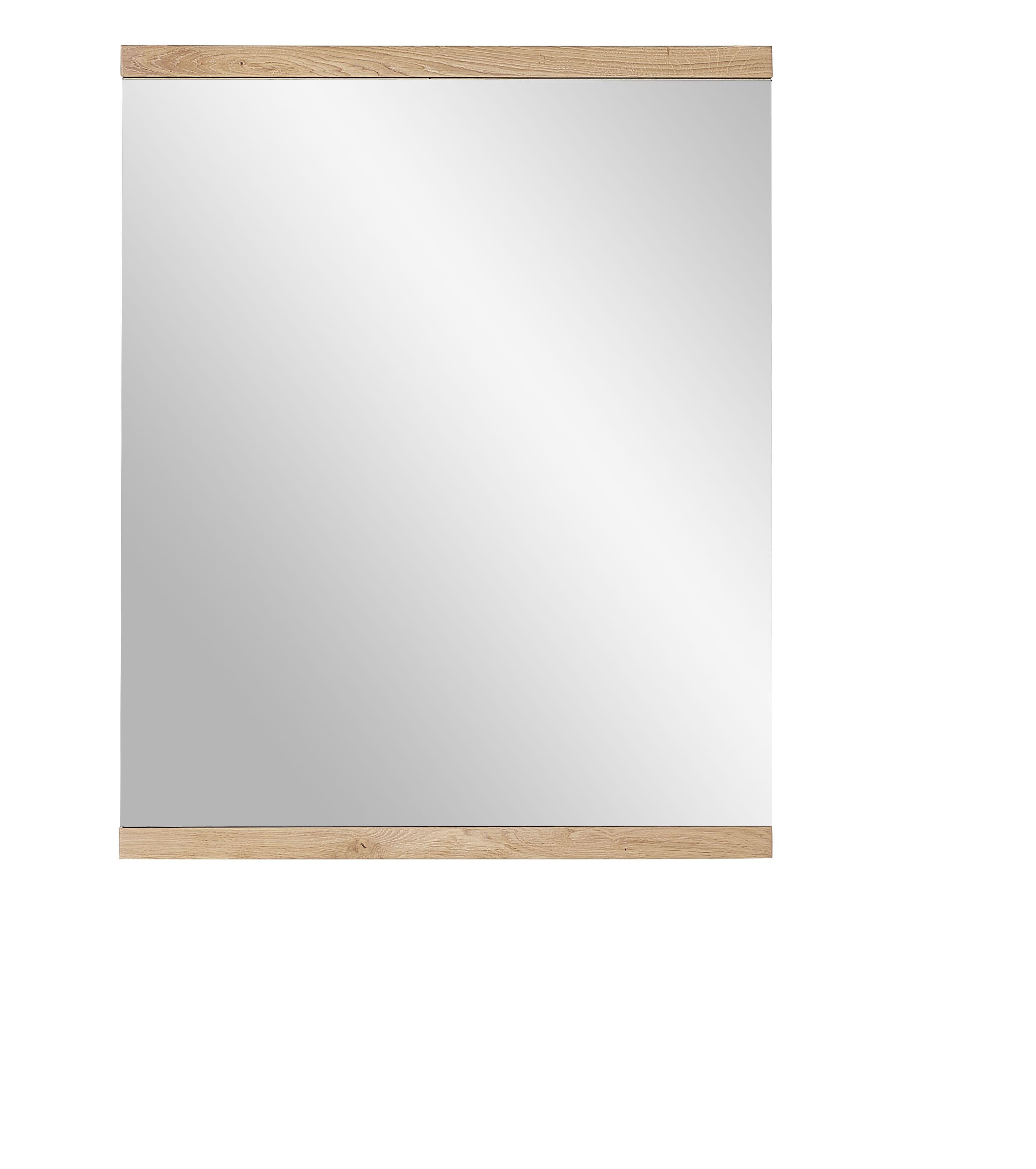 Oglinda din furnir si lemn Crispin Natur, 71 x 88 cm poza