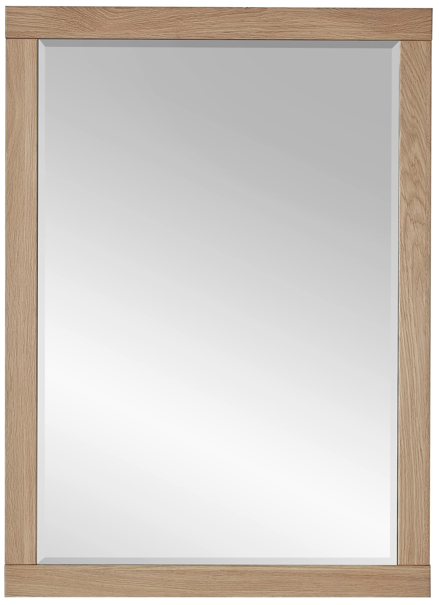 Oglinda din pal si MDF, Archi Natur, 65 x 90 cm imagine