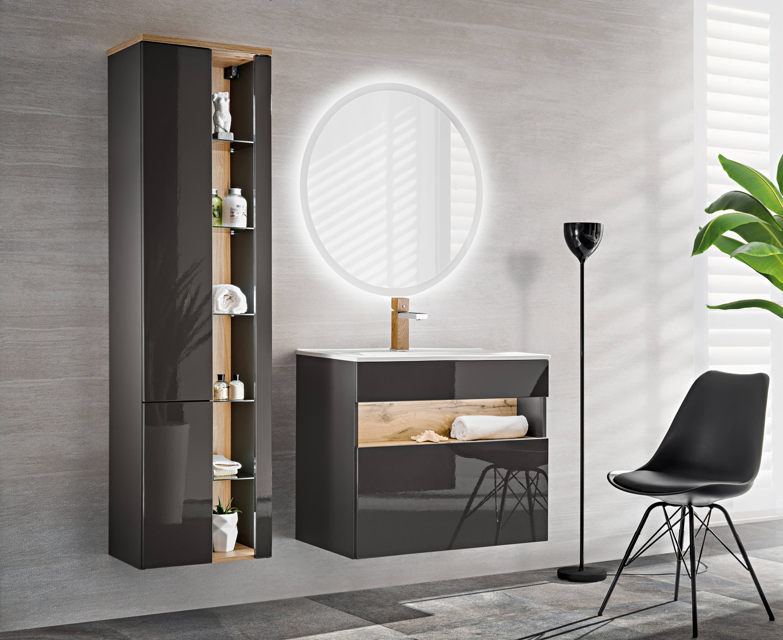 Set Mobilier pentru baie, 4 piese, Bahama Grey imagine