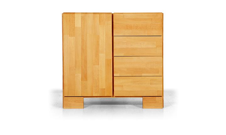 Dulap din lemn masiv de fag Seti 800 4S 1D