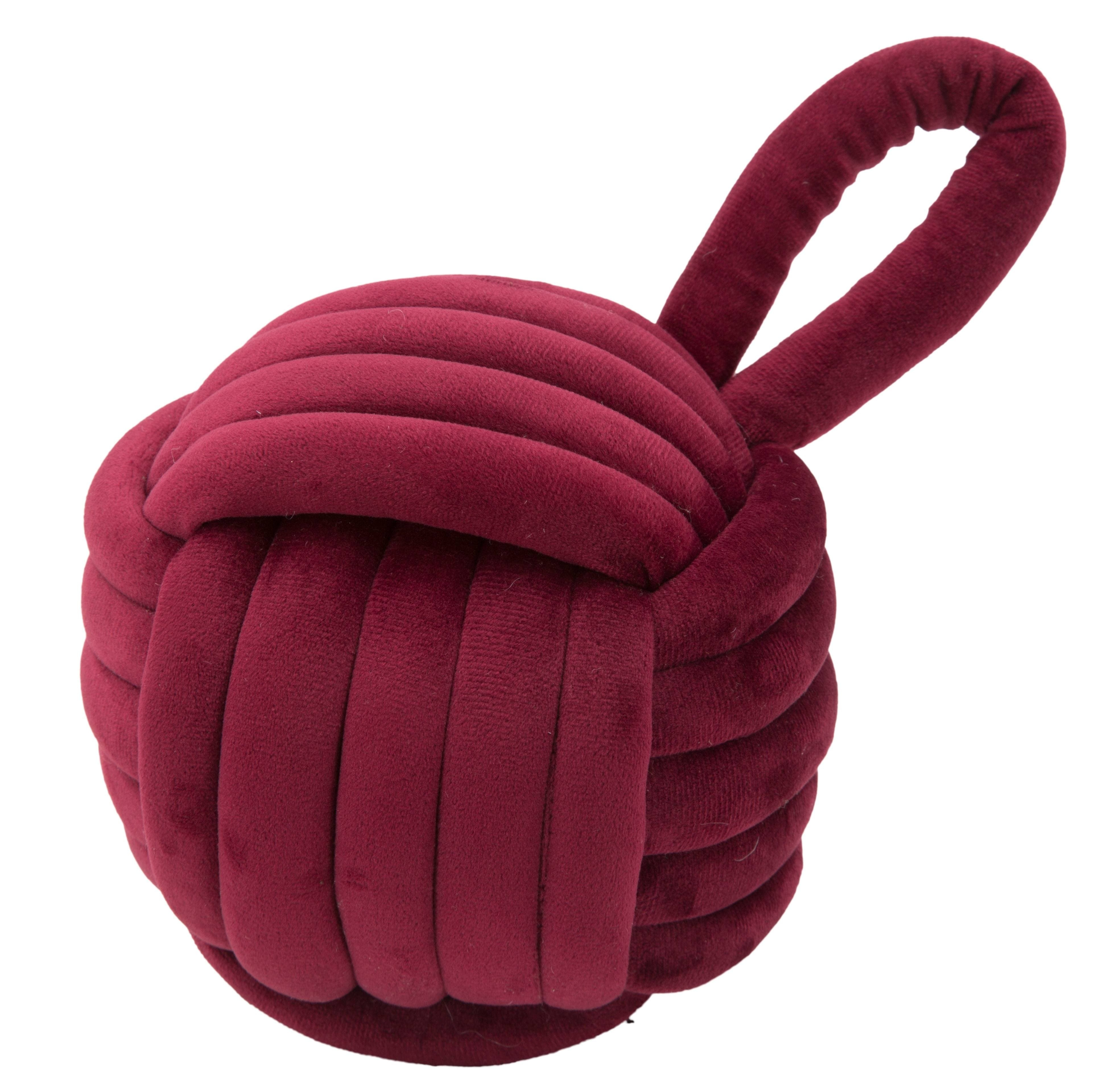 Opritor usa din material textil Ball Bordeaux, Ø14xH23 cm