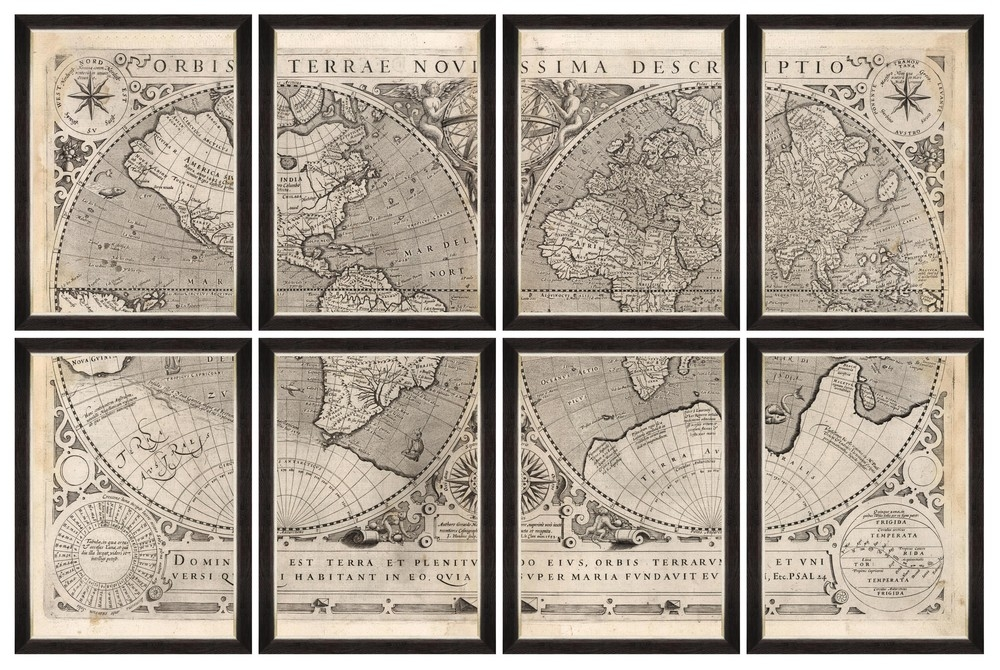Tablou 8 piese Framed Art Orbis Terrae Novissima somproduct.ro