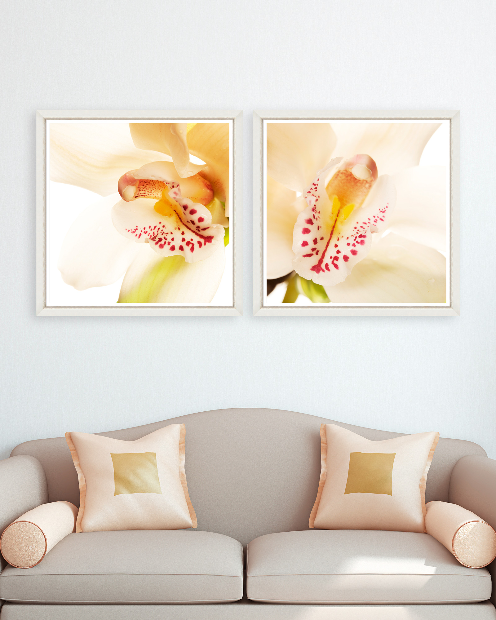 Tablou 2 piese Framed Art Orchid Close-up