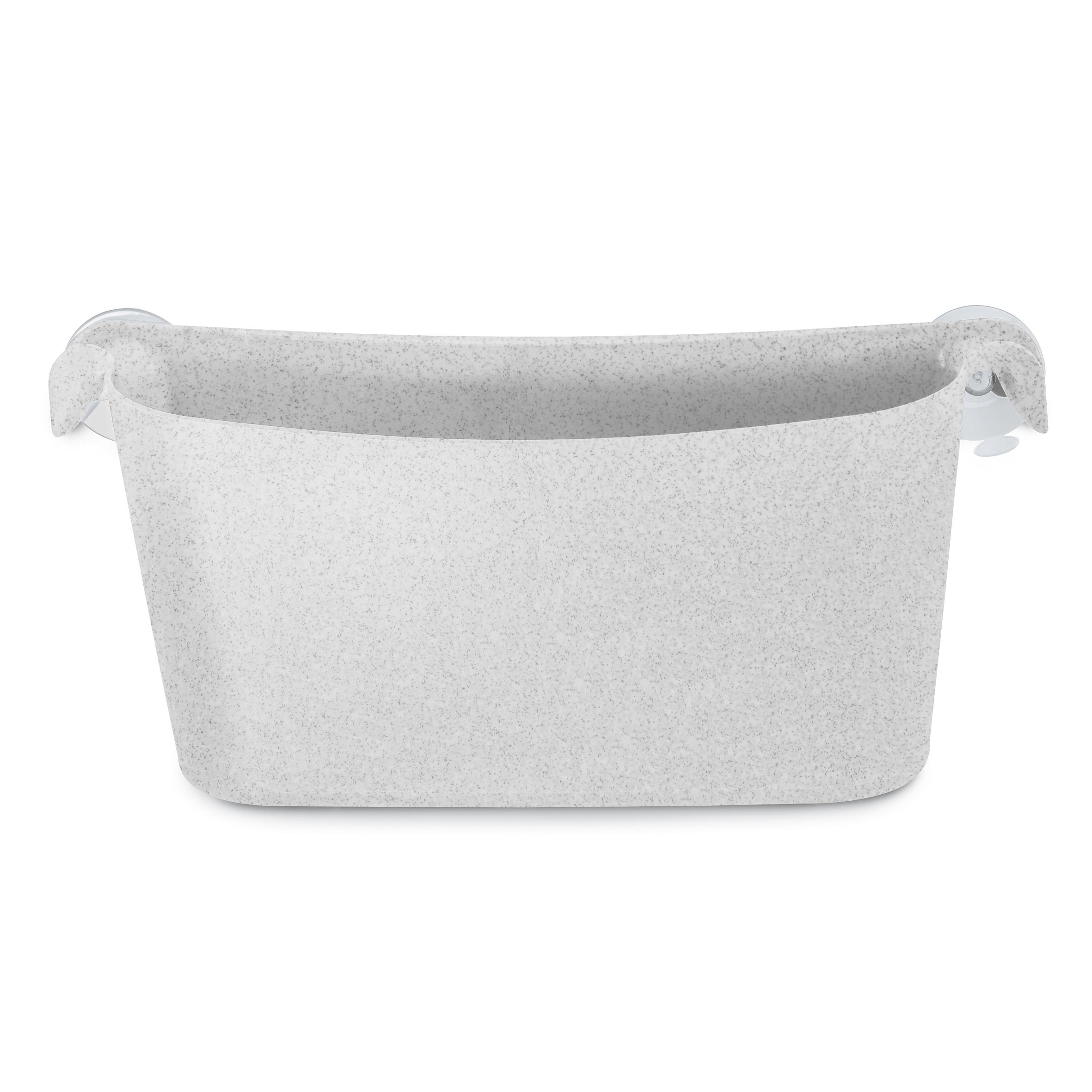 Organizator accesorii pentru baie, din termoplastic, Boks Gri, l35xA10,5xH15,8 cm imagine
