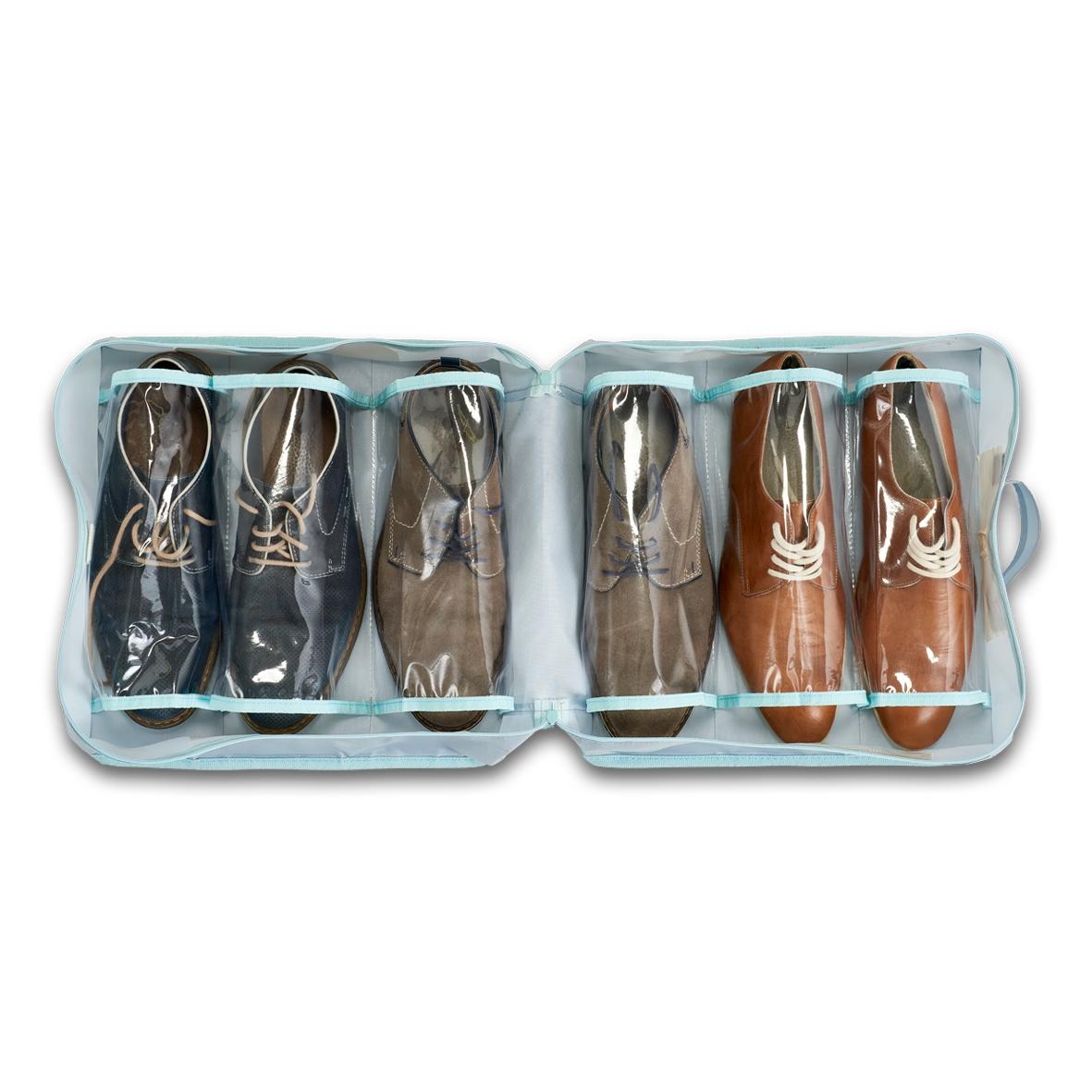 Organizator pantofi pentru bagaj de calatorie, Suitcase Gri Deschis, L36xl36xH17 cm