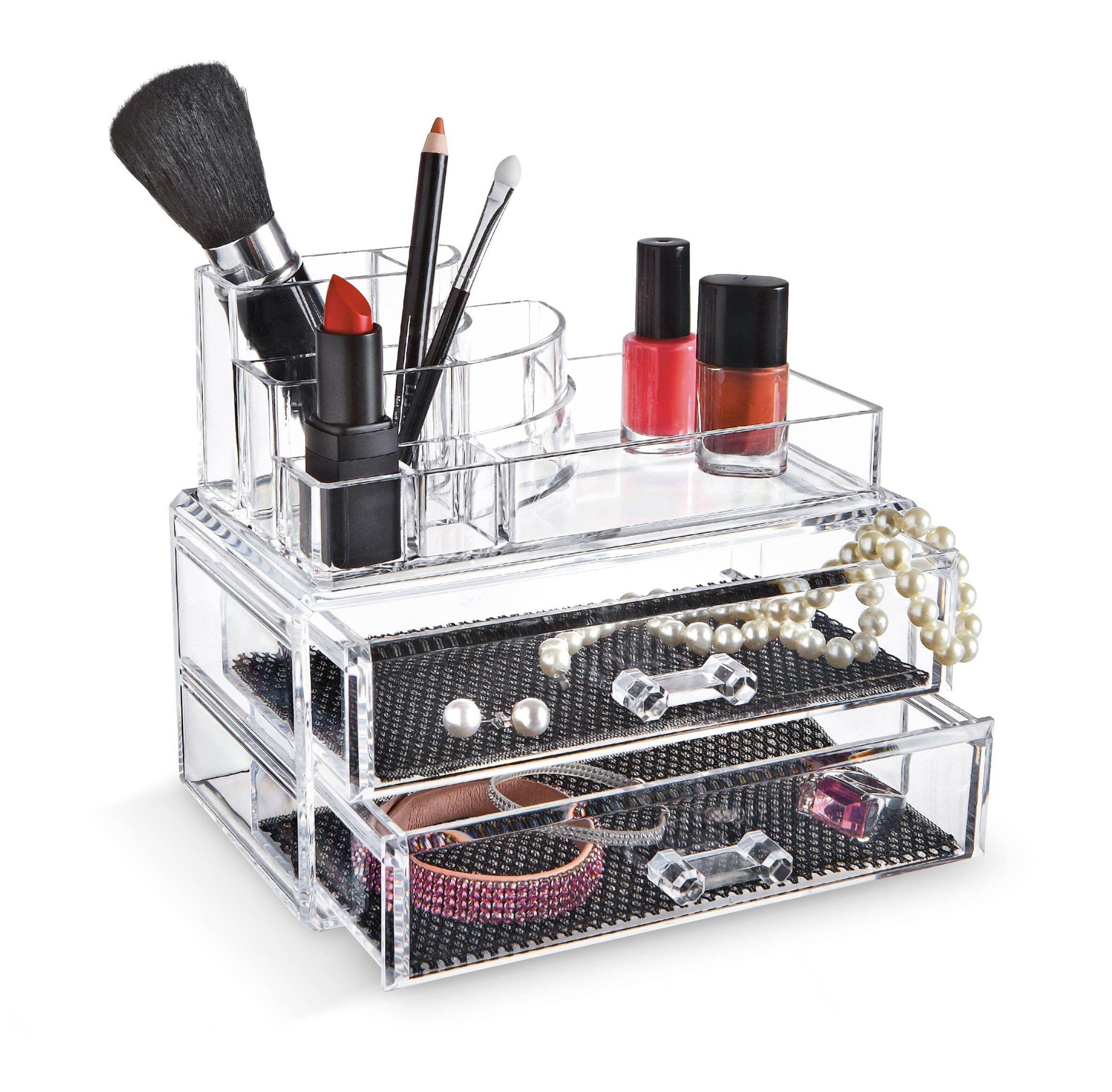 Organizator pentru cosmetice cu 9 compartimente, Beauty Transparent, l18,8xA11,5xH15,7 cm imagine