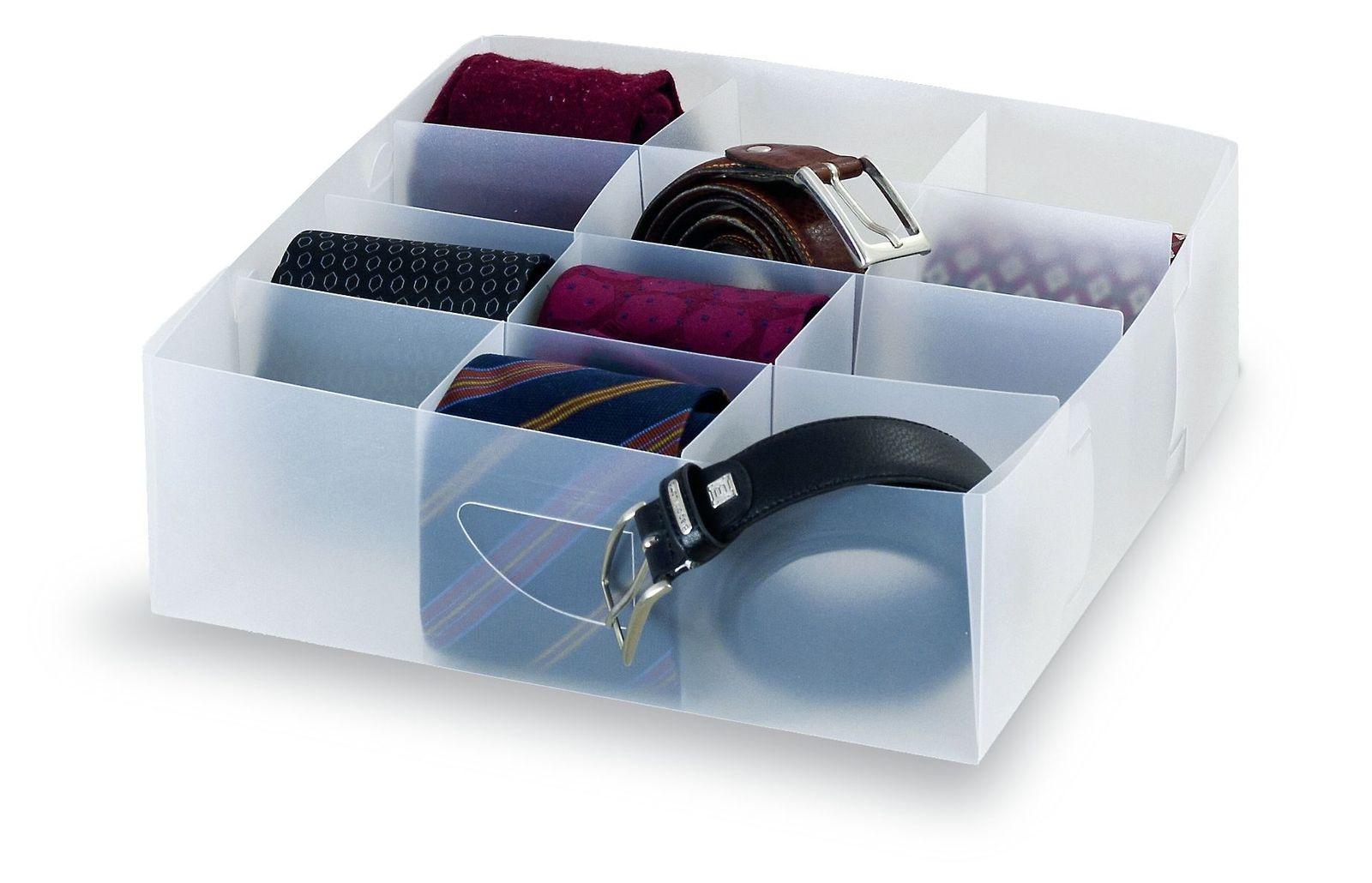 Organizator pentru sertar, Clear Transparent, L30xl30xH8 cm imagine