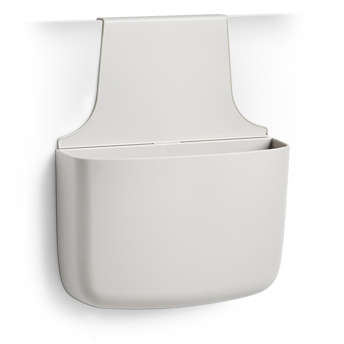 Organizator pentru usa din plastic, pentru produse de curatenie, Sink Gri, l28xA8,5xH34 cm imagine
