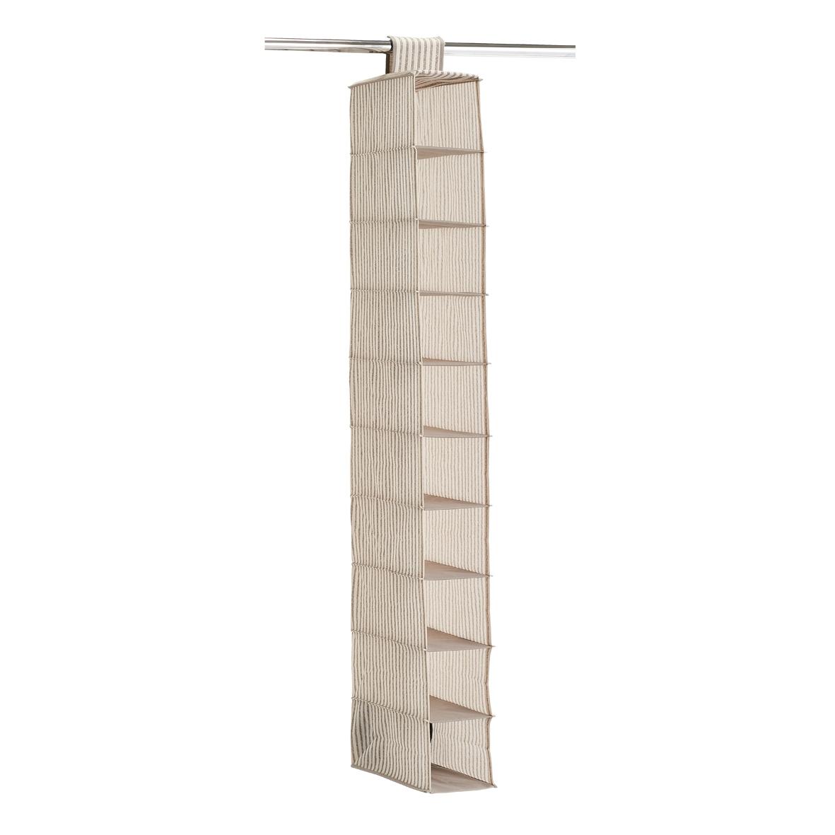Organizator textil pentru dulap, Bej Stripes, l15xA30xH129 cm imagine