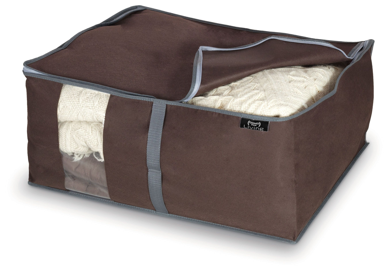 Organizator textil pliabil cu fermoar, Classic L Maro, L55xl45xH25 cm poza