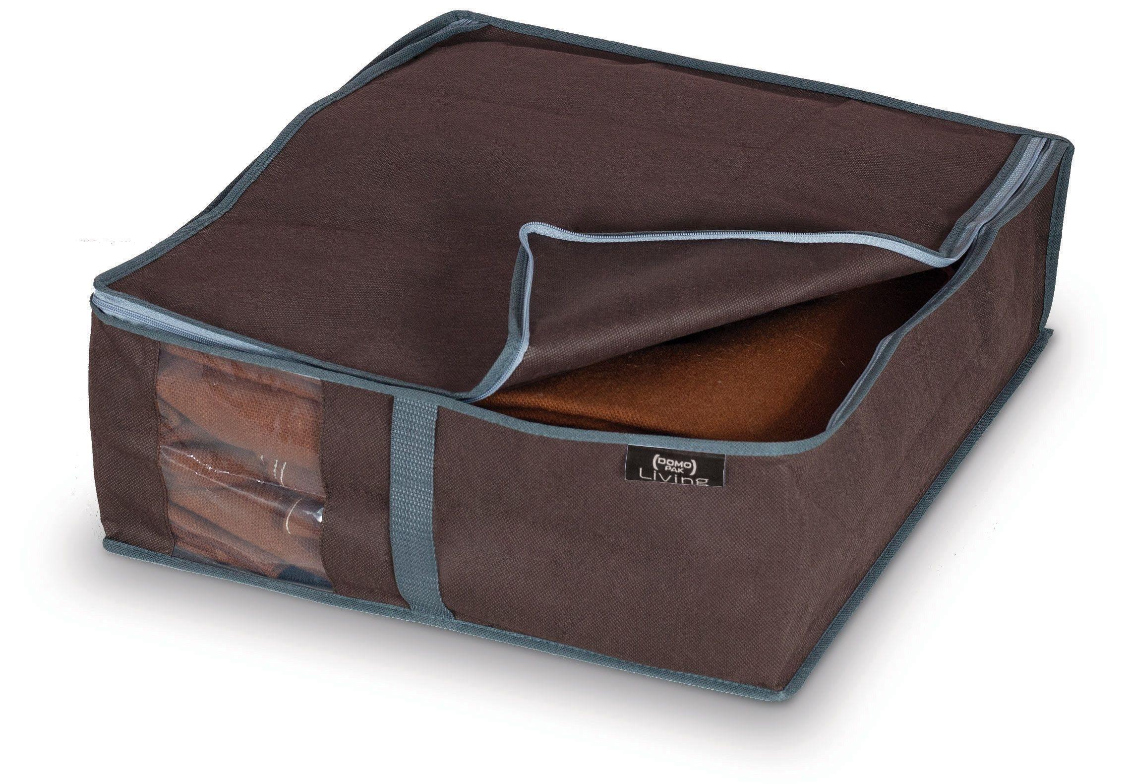Organizator textil pliabil cu fermoar, Classic Maro, L45xl40xH15 cm imagine