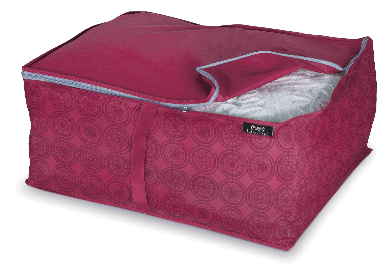 Organizator textil pliabil cu fermoar, Ella L Bordeaux, L55xl45xH25 cm imagine