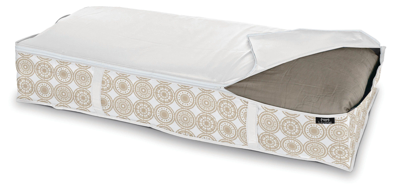 Organizator textil pliabil cu fermoar, Ella XL Bej, L95xl45xH18 cm imagine