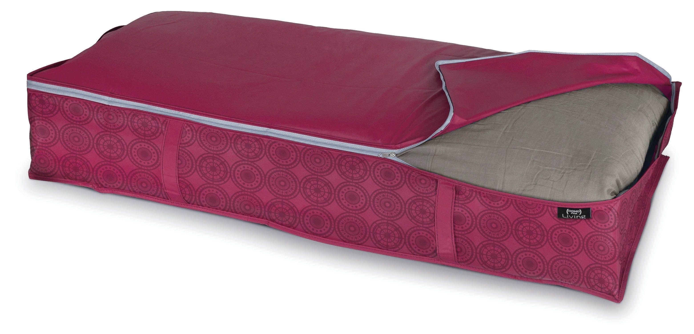 Organizator textil pliabil cu fermoar, Ella XL Bordeaux, L95xl45xH18 cm imagine