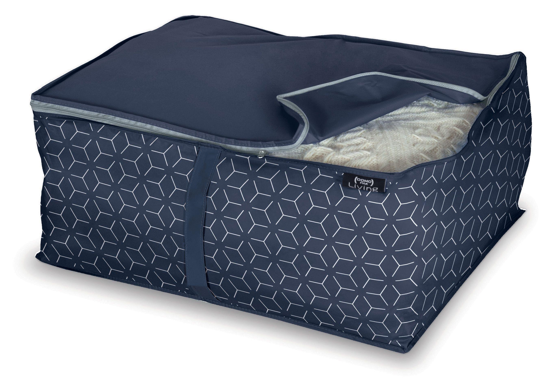 Organizator textil pliabil cu fermoar, Metrik L Bleumarin, L55xl45xH25 cm imagine