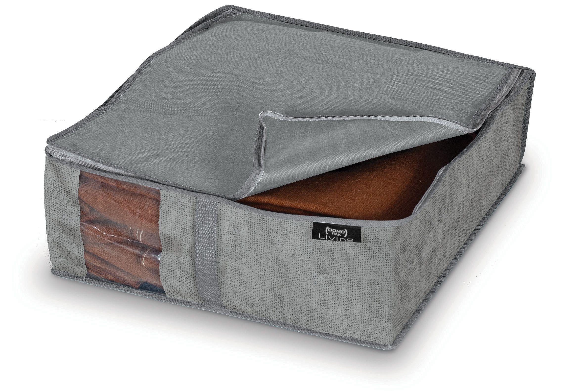 Organizator textil pliabil cu fermoar, Stone Gri, L45xl40xH15 cm poza