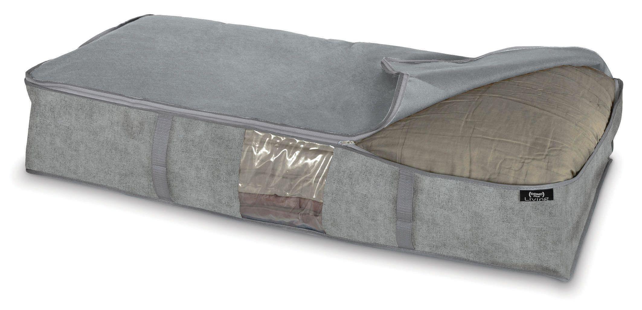 Organizator textil pliabil cu fermoar, Stone XL Gri, L95xl45xH18 cm imagine