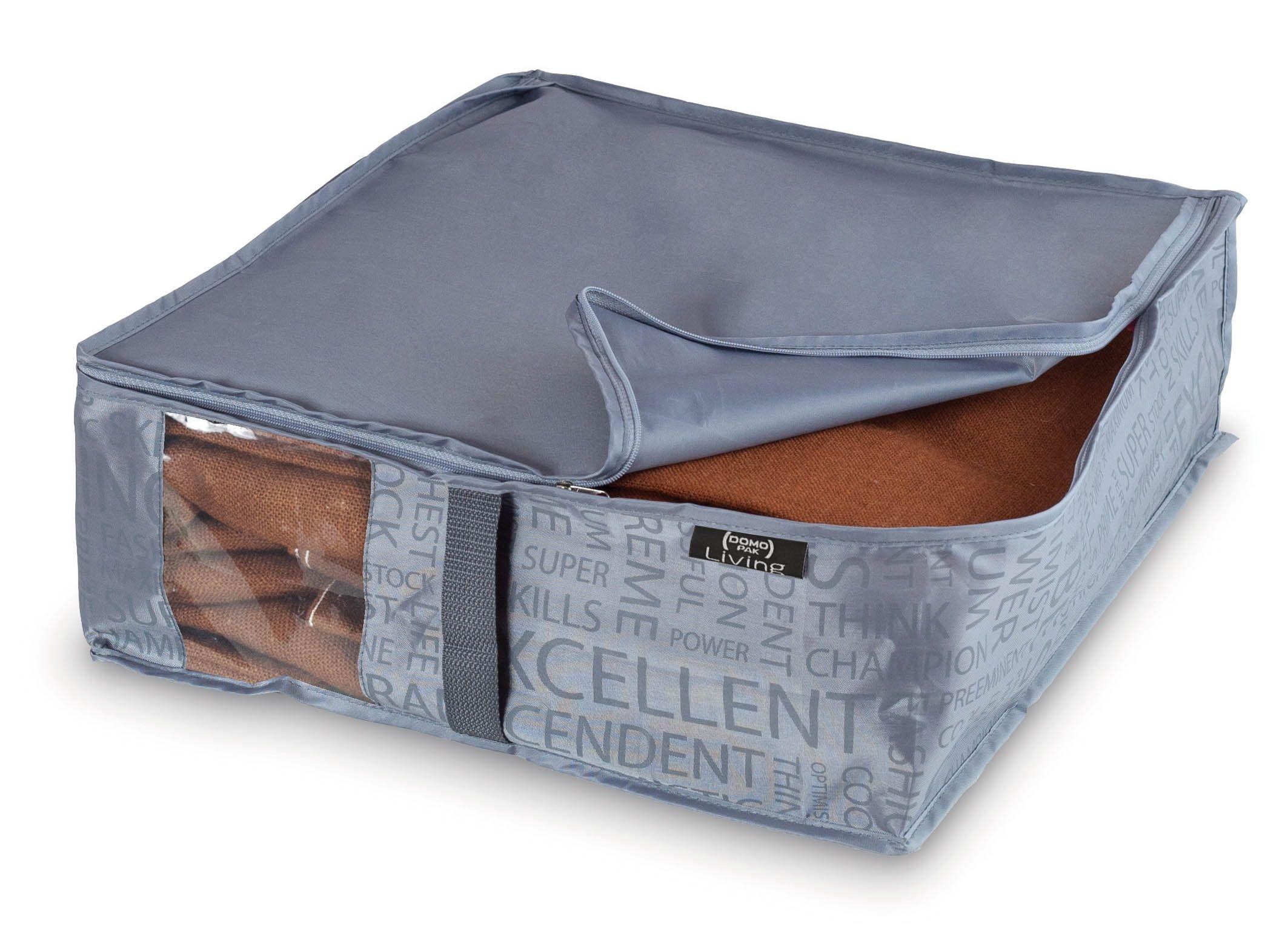 Organizator textil pliabil cu fermoar, Urban Gri, L45xl40xH15 cm imagine