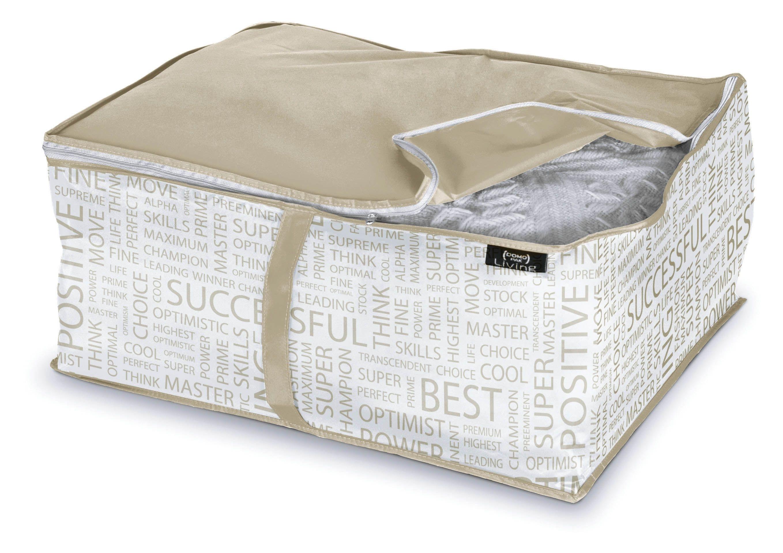 Organizator textil pliabil cu fermoar, Urban L Alb / Grej, L55xl45xH25 cm poza