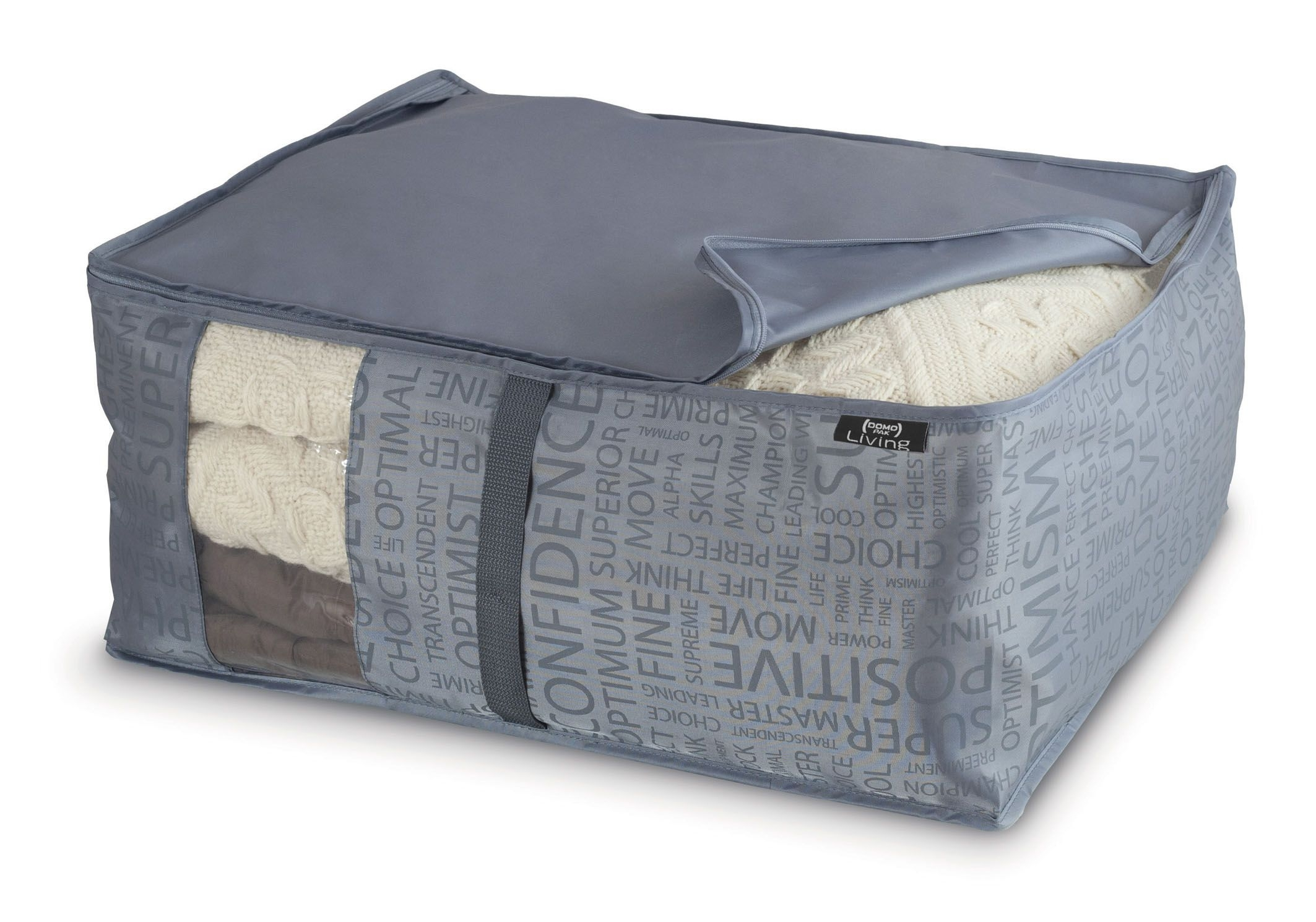 Organizator textil pliabil cu fermoar, Urban L Gri, L55xl45xH25 cm imagine
