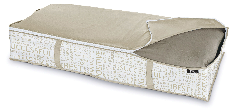 Organizator textil pliabil cu fermoar, Urban XL Alb / Grej, L95xl45xH18 cm imagine
